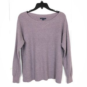 AMERICAN EAGLE PURPLE SCOOP NECK SWEATER SIZE MED